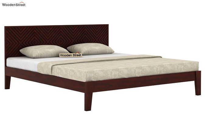 Horton Bed Without Storage (Queen Size, Mahogany Finish)-4