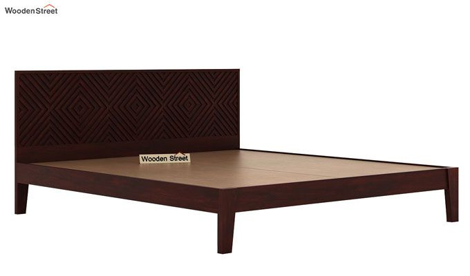Horton Bed Without Storage (Queen Size, Mahogany Finish)-5
