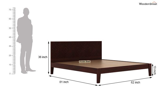 Horton Bed Without Storage (Queen Size, Mahogany Finish)-6