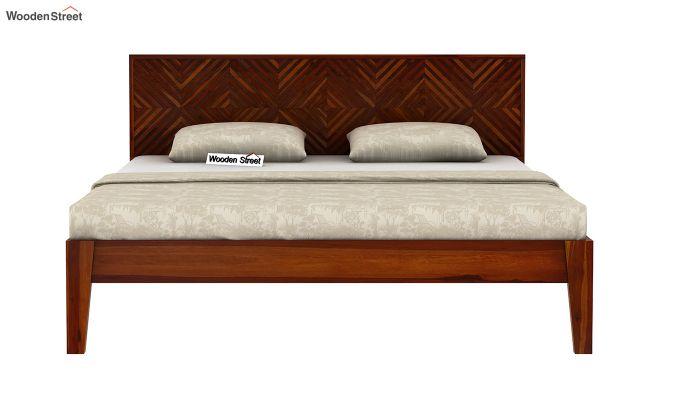 Horton Bed Without Storage (King Size, Honey Finish)-5