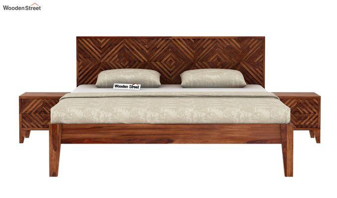 Horton Bed Without Storage (King Size, Teak Finish)-3