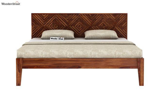 Horton Bed Without Storage (King Size, Teak Finish)-5