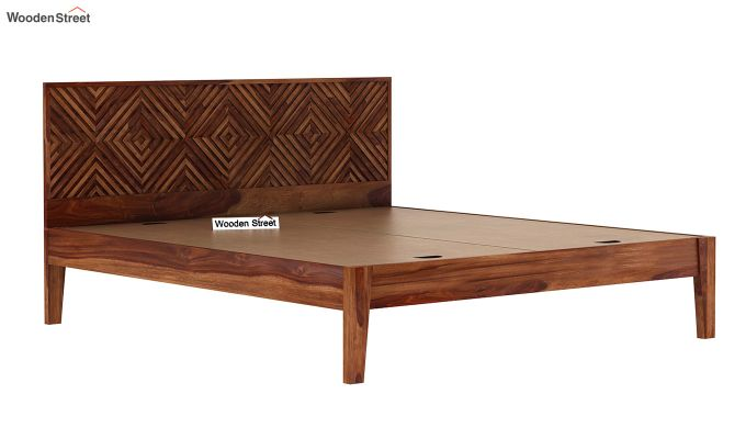 Horton Bed Without Storage (Queen Size, Teak Finish)-6