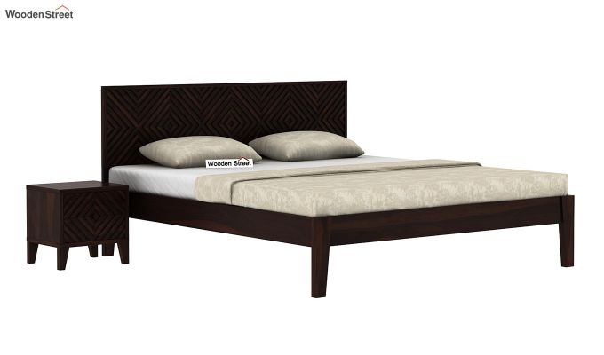 Horton Bed Without Storage (Queen Size, Walnut Finish)-2