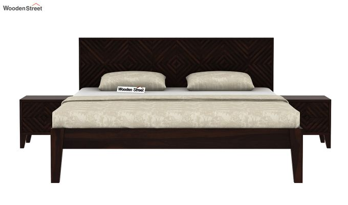 Horton Bed Without Storage (Queen Size, Walnut Finish)-3