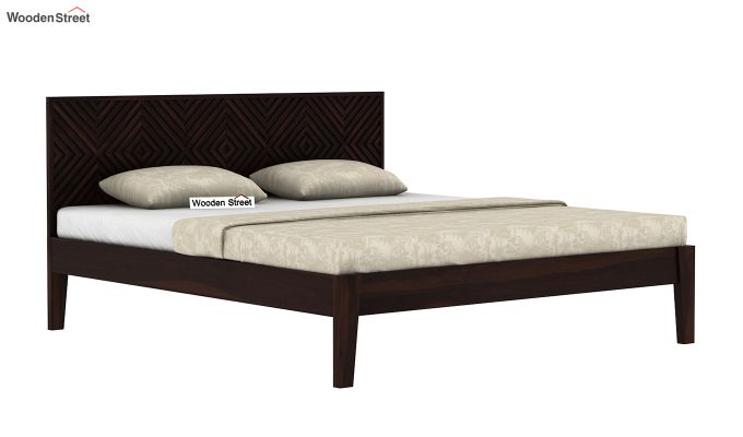 Horton Bed Without Storage (Queen Size, Walnut Finish)-4