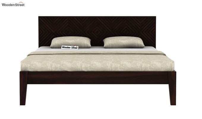 Horton Bed Without Storage (Queen Size, Walnut Finish)-5