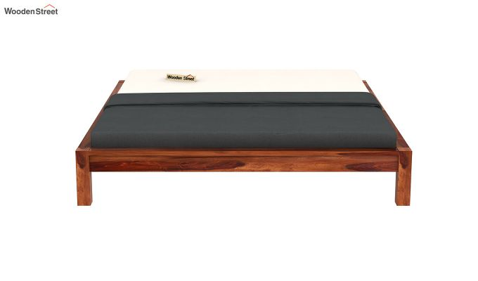 Hout Bed Without Storage (King Size, Honey Finish)-5