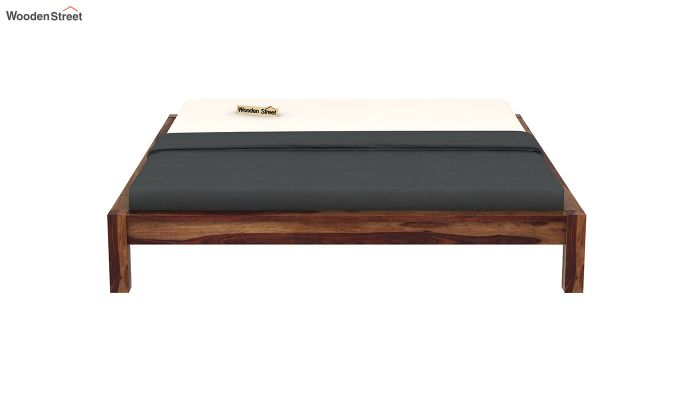 Hout Bed Without Storage (King Size, Teak Finish)-5