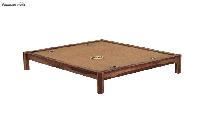 Hout Bed Without Storage (Queen Size, Teak Finish)-6