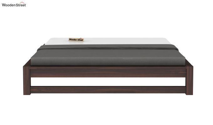 Hout Bed Without Storage (Queen Size, Walnut Finish)-5