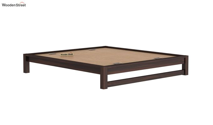 Hout Bed Without Storage (Queen Size, Walnut Finish)-6