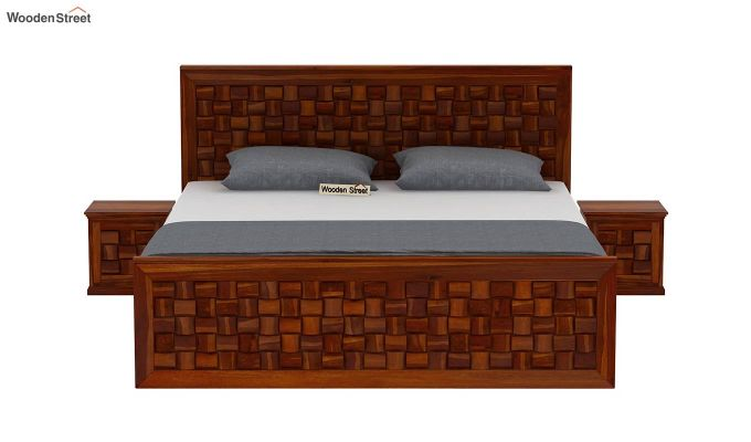 Howler Bed without Storage (Queen Size, Honey Finish)-3