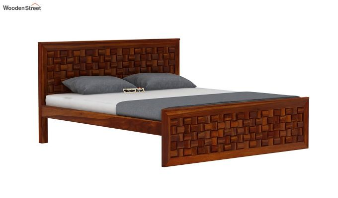 Howler Bed without Storage (Queen Size, Honey Finish)-4