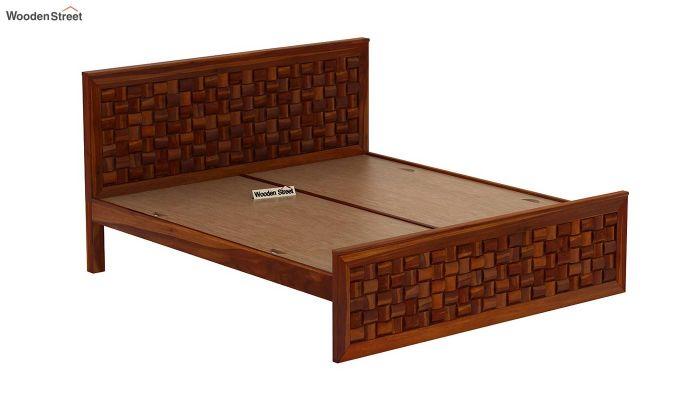 Howler Bed without Storage (King Size, Honey Finish)-6