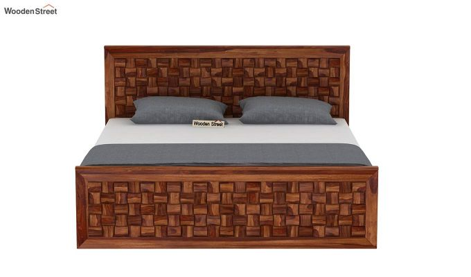 Howler Bed without Storage (Queen Size, Teak Finish)-5