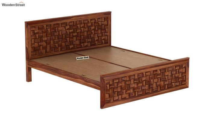 Howler Bed without Storage (Queen Size, Teak Finish)-6