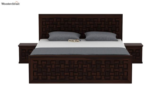 Howler Bed without Storage (King Size, Walnut Finish)-3