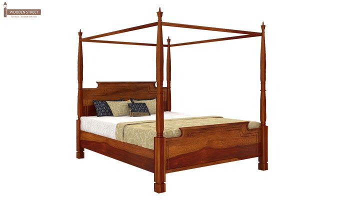 Isabel Poster Double Bed (King Size, Honey Finish)-3
