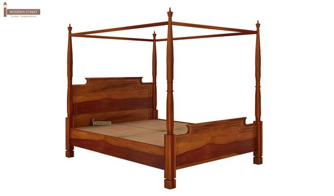 Isabel Poster Double Bed (King Size, Honey Finish)-4