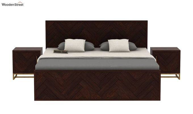 Jett Bed Without Storage (Queen Size,Walnut Finish)-3