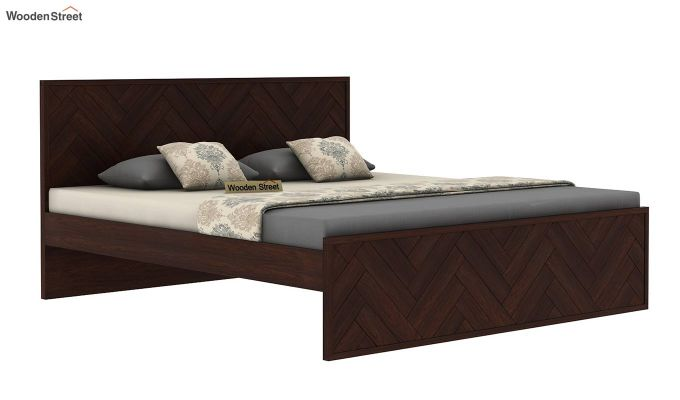 Jett Bed Without Storage (Queen Size,Walnut Finish)-4