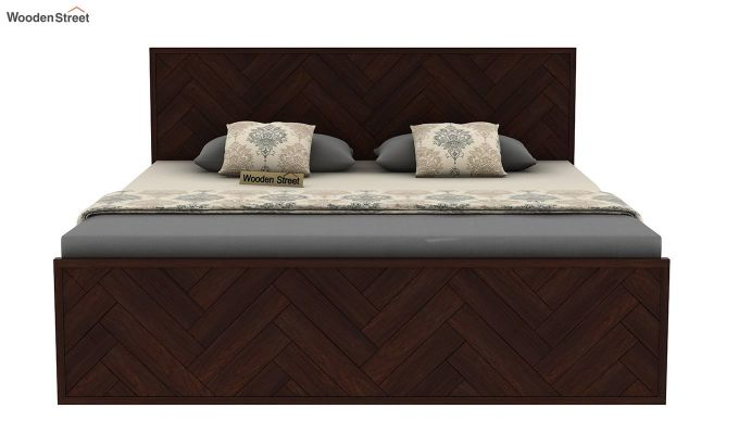 Jett Bed Without Storage (Queen Size,Walnut Finish)-5