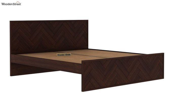 Jett Bed Without Storage (Queen Size,Walnut Finish)-6