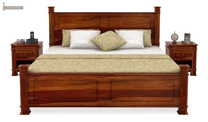 Kingsley Bed (Queen Size, Honey Finish)-3