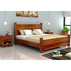 Kingsley Bed (Queen Size, Honey Finish)