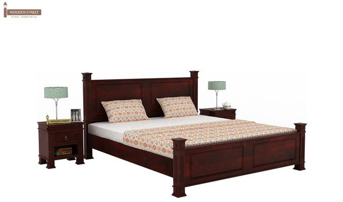 Kingsley Bed (King Size, Mahogany Finish)-1