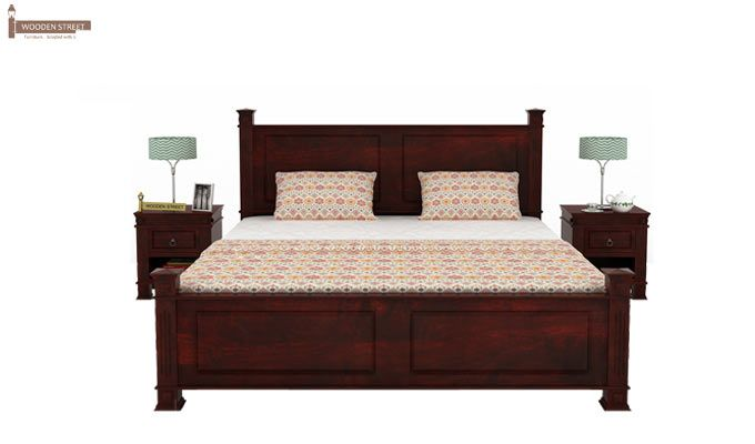 Kingsley Bed (King Size, Mahogany Finish)-2