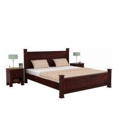 Kingsley Bed (Queen Size, Mahogany Finish)
