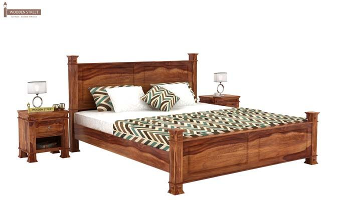 Kingsley Bed (King Size, Teak Finish)-1