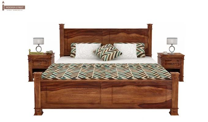 Kingsley Bed (King Size, Teak Finish)-2