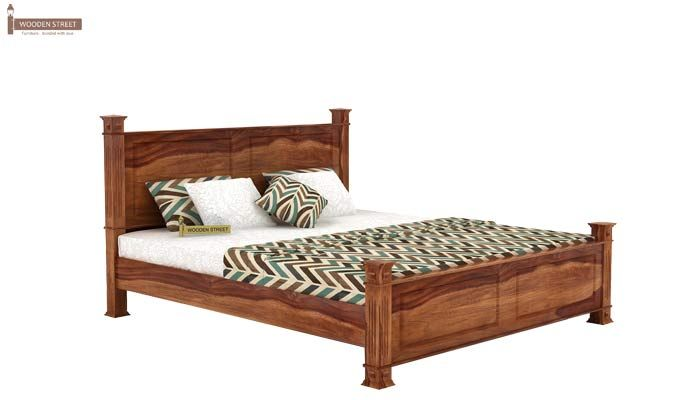 Kingsley Bed (King Size, Teak Finish)-3