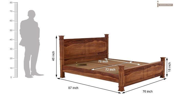 Kingsley Bed (King Size, Teak Finish)-5