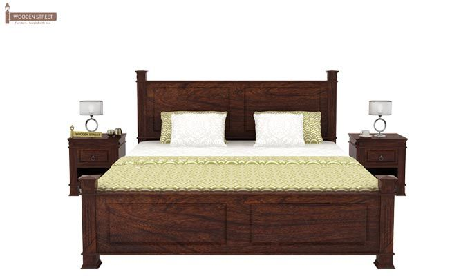 Kingsley Bed (Queen Size, Walnut Finish)-2