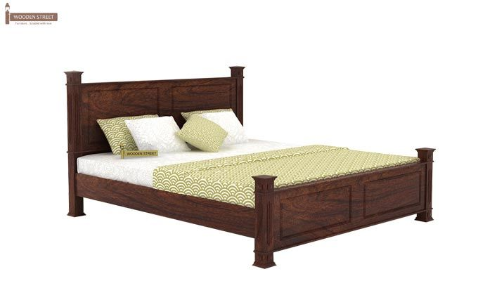 Kingsley Bed (King Size, Walnut Finish)-3