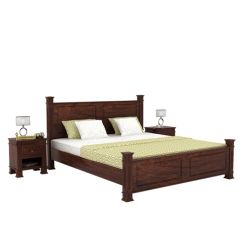 Kingsley Bed (Queen Size, Walnut Finish)