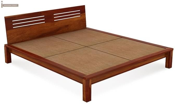 Lynet Bed Without Storage (King Size, Honey Finish)-5