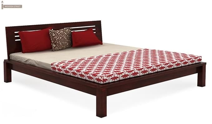 Lynet Bed Without Storage (King Size, Mahogany Finish)-4