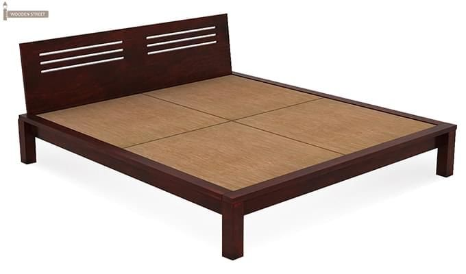 Lynet Bed Without Storage (King Size, Mahogany Finish)-5