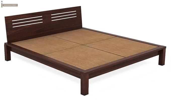 Lynet Bed Without Storage (King Size, Walnut Finish)-5