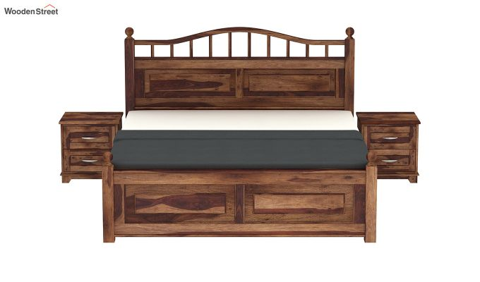Madison Bed Without Storage (Queen Size, Teak Finish)-3