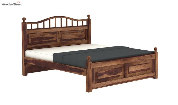 Madison Bed Without Storage (Queen Size, Teak Finish)-4