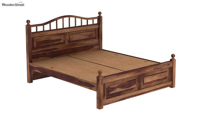 Madison Bed Without Storage (Queen Size, Teak Finish)-6