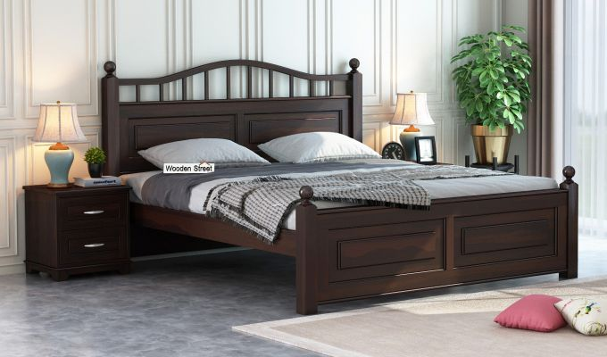 Madison Bed Without Storage (King Size, Walnut Finish)-1