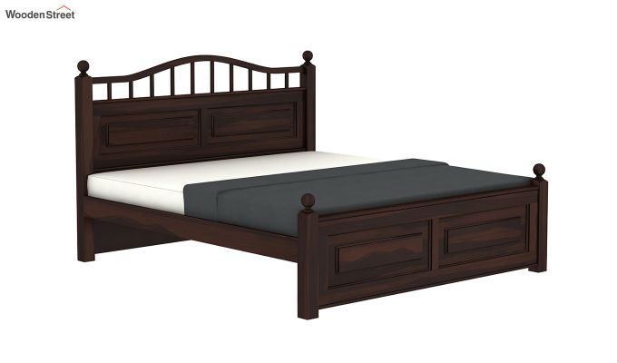 Madison Bed Without Storage (Queen Size, Walnut Finish)-4