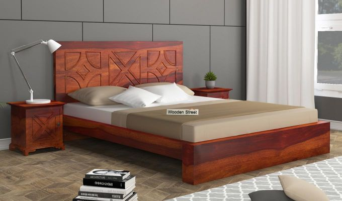Martin Bed Without Storage (Queen Size,Honey Finish)-1